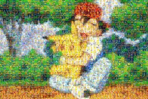 Ash and Pikachu mosaic by LostBoy789