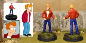 Philip J. Fry - Delivery Boy by herebewonder