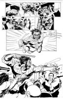 Wolverine Bar Fight Page 2 Inked by dtor91