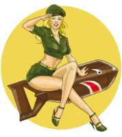 Military Pin Up by MichelaDaSacco