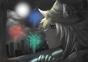 New Year's fireworks by FlippyUzumaki