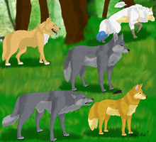 The pack by WolfArtC