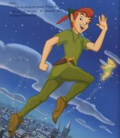 Peter Pan and Tinkerbell by LiviuSquinky