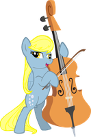 Derpy Playing Octavia's Cello by AceofPonies
