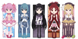 Puella Magi Cheeb Bookmarks by PuffyPenguin