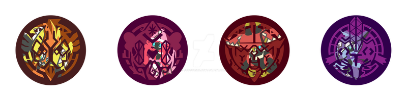 Pokemon Tapu Pins by Judge0528