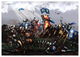 Battle of Crecy, 1346 by dmavromatis
