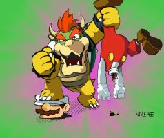 Bowser Ownage variant 2 by jiggyfresh