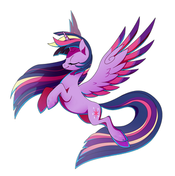 Rainbow Power Twilight Sparkle by TrippinMars