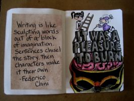 Sketchbook Project 2012 - pages 6-7 by Gothscifigirl
