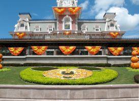 Halloween Train Station 1 by WDWParksGal-Stock