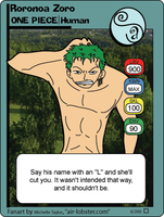 Anime Card 6 - Roronoa Zoro by airlobster