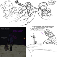 Rythian doodles and Story Concept by DordtChild