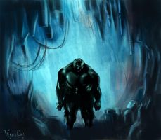 hulk the cave monster by VegasDay