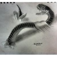 3D snake drawing by DevonDavis