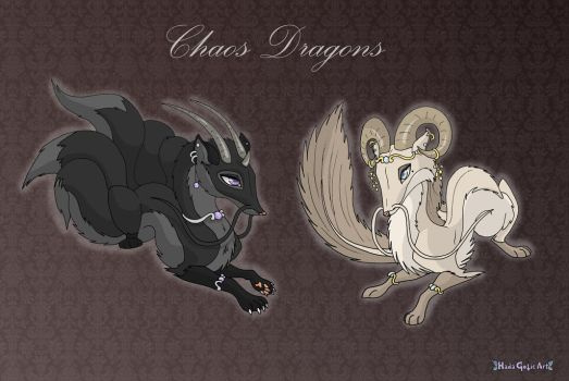 [Closed] Commission: Chaos Dragons by Almairis