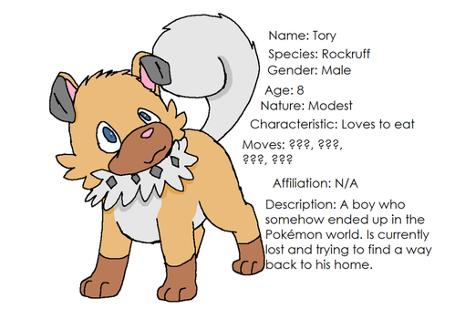 PMD: Strong Hearts- Tory's Bio by XfangheartX