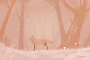 Pink Forest by Klissie