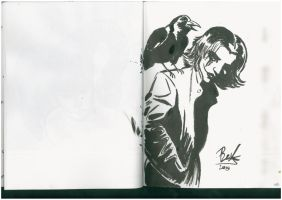 The Crow City Of Angels Brush pen by oluklu