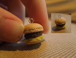 Burger Charm - Polymer clay by claymasey98