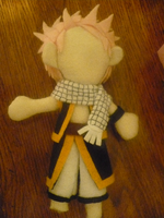 Natsu Dragneel Plushie WIP by sybersweetheart