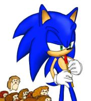 sonic playing a whistle by rezistangs