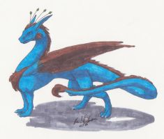 Copic Dragon by OmegaDreamSeeker11