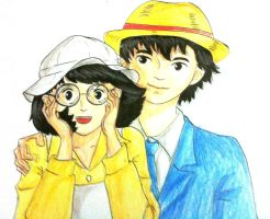 [Ghibli] Jiro and Naoko hat swap by LyDuong