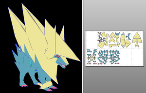 Mega Manectric papercraft by javierini