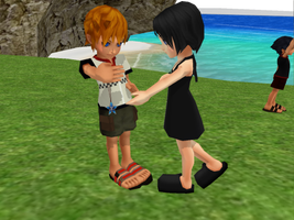 Kid Roxas and Xion by xionsmiles