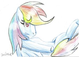 MLP Boring Drawing late at night  - Rainbow Dash by Jazz-M-Ink