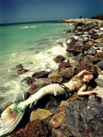 Mermaid on the Rocks by MerBellas