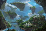 Floating Islands by PeterPrime