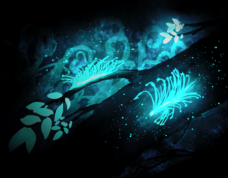 Cambrian Glowworms-Forest entry by GrowLegends