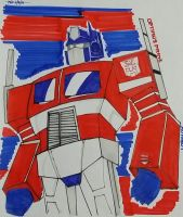 OPTIMUS PRIME THE AUTOBOT by RiverZabala2014