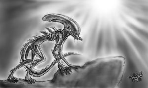 Alien - The Scariest Monster Ever by TwickyGirl