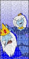 Bookmarks - Adventure TIme: Ice King/Ice Queen by agent-ayu