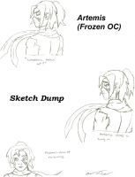 Artemis (New Frozen OC) Sketch Dump by animedugan