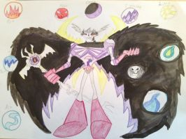 Skeleton King and power of elements by The-Angel-D