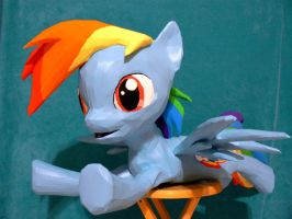 Dashie papercraft - finished by Znegil