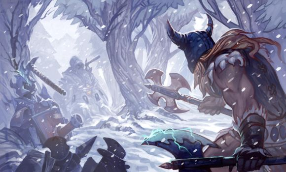 League of Legends DigiArt Contest: Olaf by Somnicide