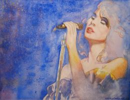 Blue Bayou - Watercolor and Pastel by ralphael50