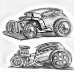 Hot Rods by BloodBica