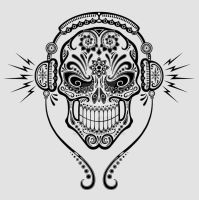 DJ Sugar Skull by Jeff-Bartels