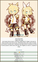 Kagamine Journal Skin by double-rainbow-chan