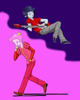Marshall Lee and Prince Gumball by FrothyTheRabidCat