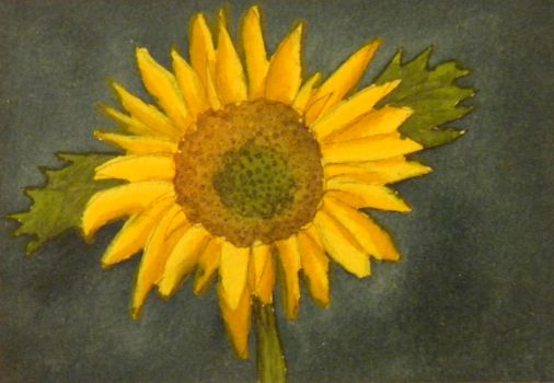 Sunflower Watercolor by DC-Art-Therapist