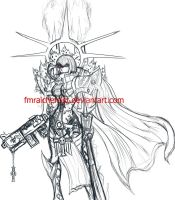 Adepta Sororitas sketch by FranMR