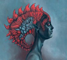 Concept Art - Human head by MeWannaLearn