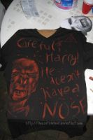 HE DOESN'T HAVE A NOSE shirt by TheRootOfAllEvil
